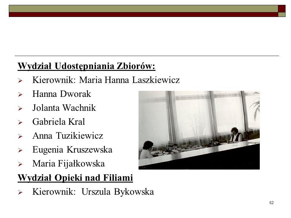 Wydział Udostępniania Zbiorów: