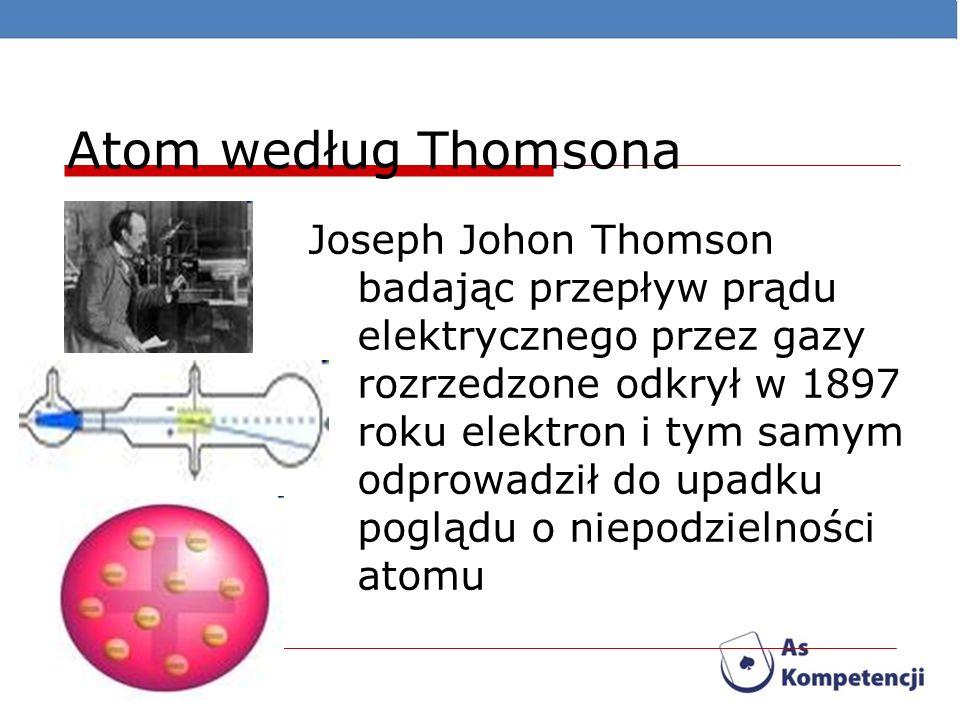 Atom według Thomsona