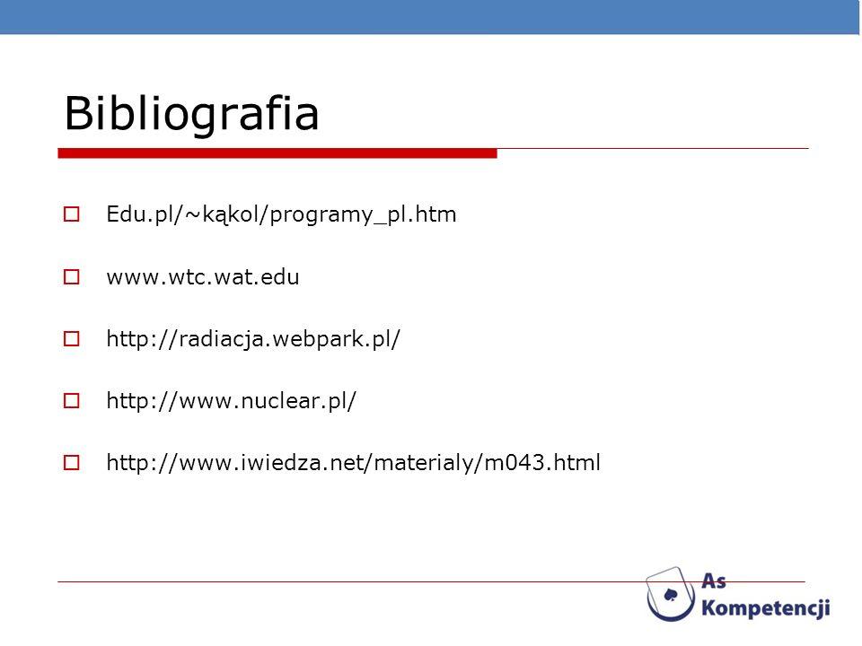 Bibliografia Edu.pl/~kąkol/programy_pl.htm www.wtc.wat.edu