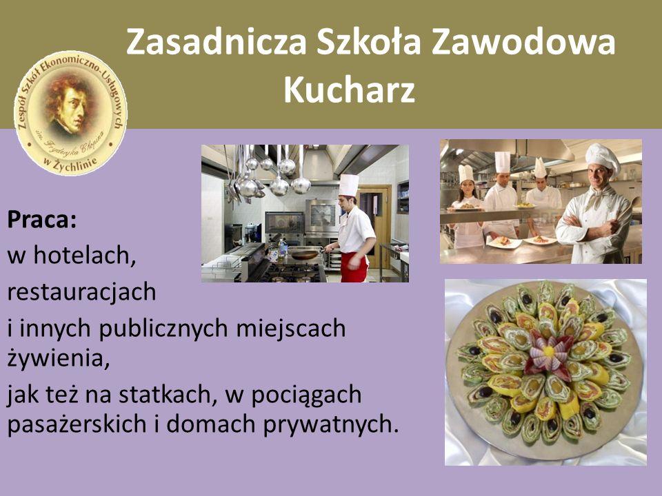 Zasadnicza Szkoła Zawodowa Kucharz