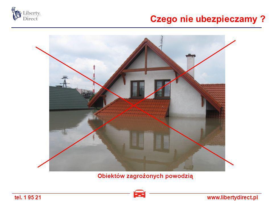Obiektów zagrożonych powodzią