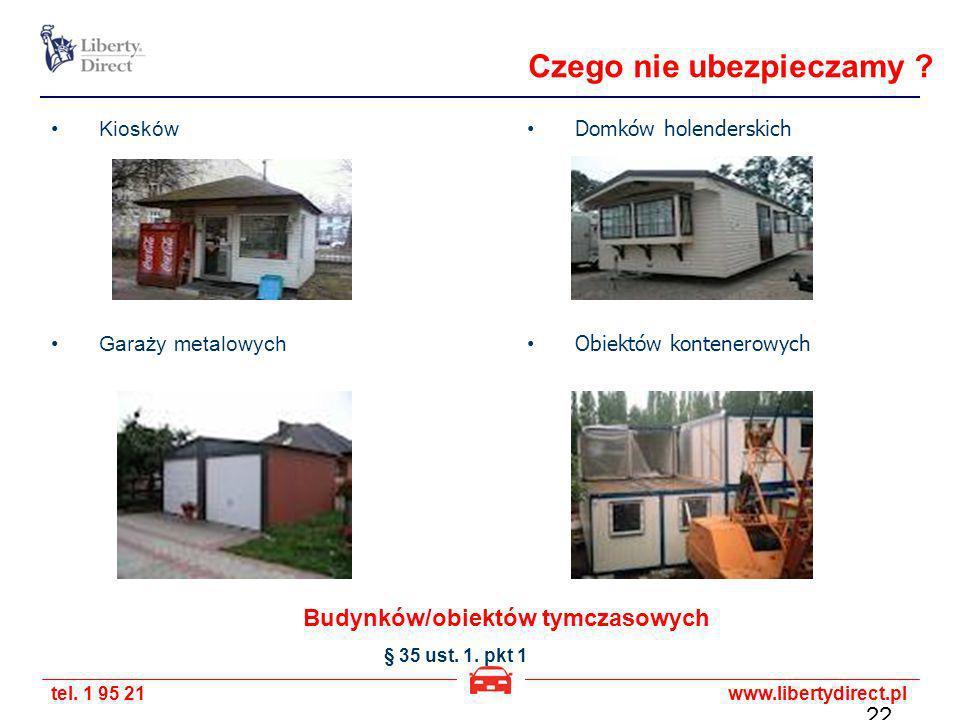 Budynków/obiektów tymczasowych