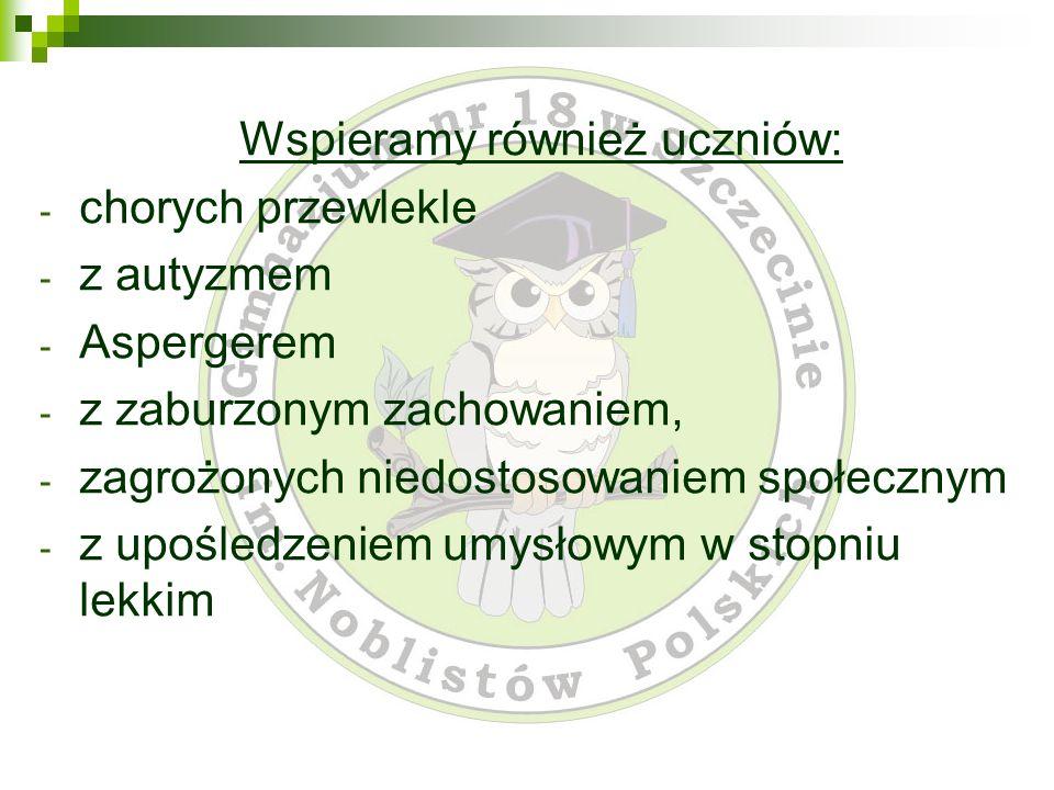 Wspieramy również uczniów: