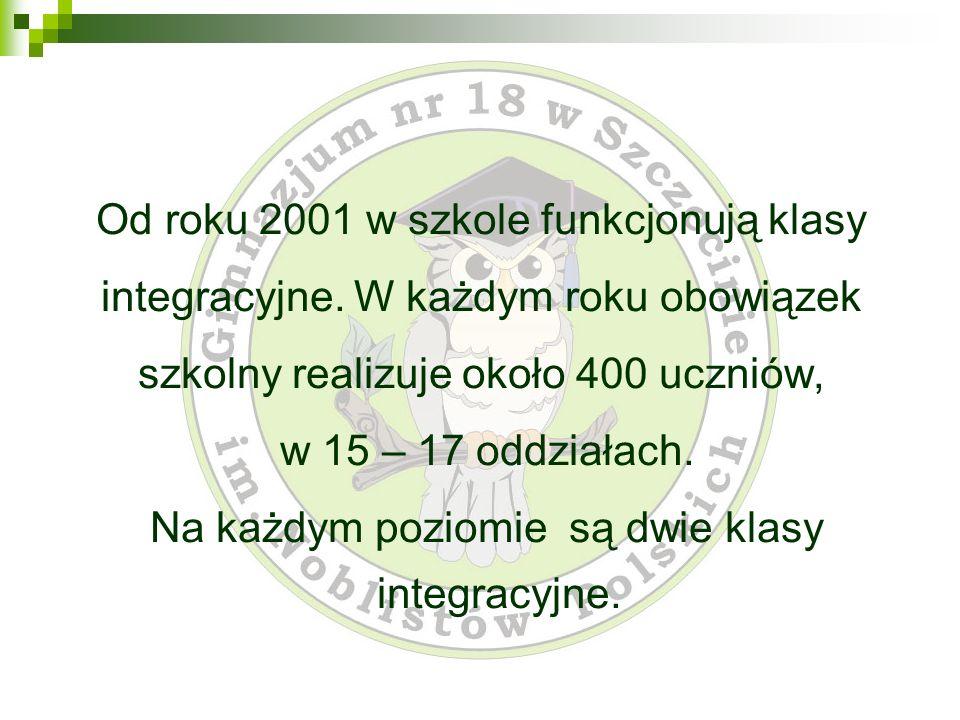 Od roku 2001 w szkole funkcjonują klasy