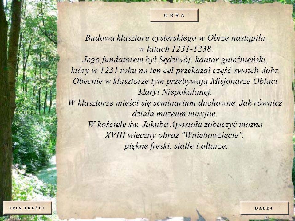 Budowa klasztoru cysterskiego w Obrze nastąpiła w latach 1231-1238.