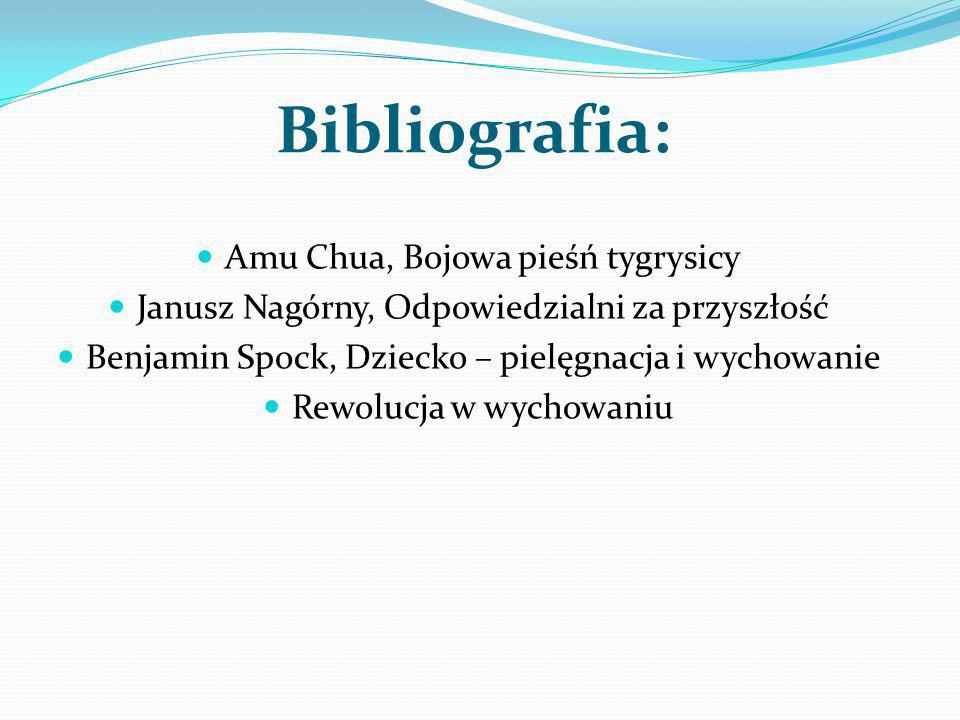 Bibliografia: Amu Chua, Bojowa pieśń tygrysicy