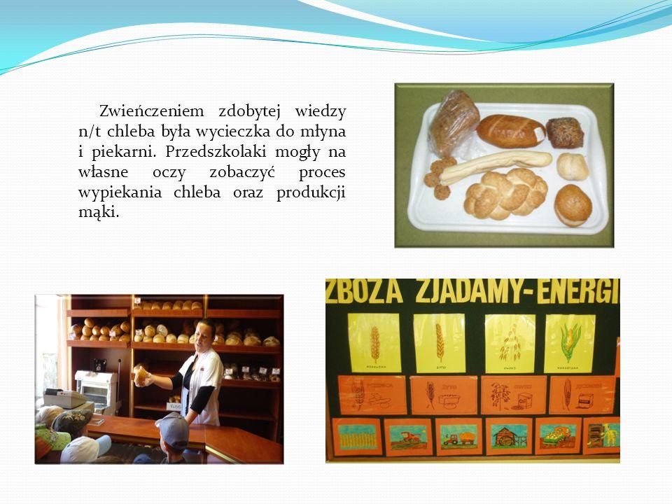 Zwieńczeniem zdobytej wiedzy n/t chleba była wycieczka do młyna i piekarni.