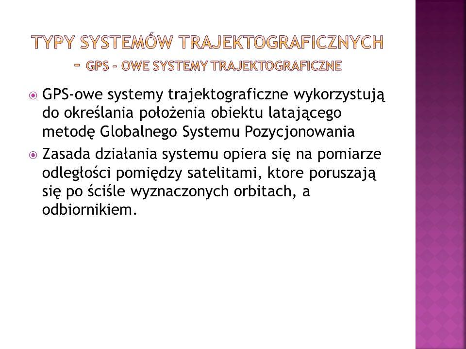 Typy systemów trajektograficznych - GPS – owe systemy trajektograficzne