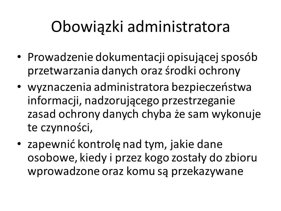 Obowiązki administratora