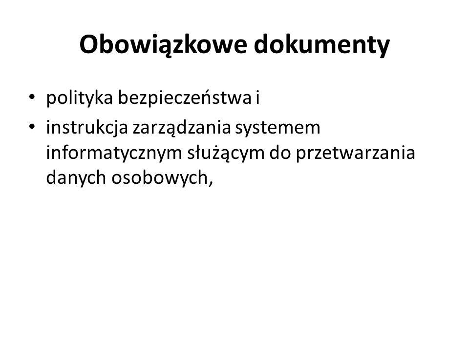Obowiązkowe dokumenty