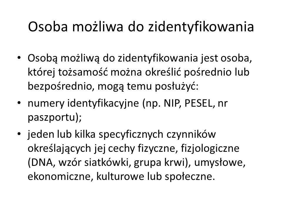 Osoba możliwa do zidentyfikowania