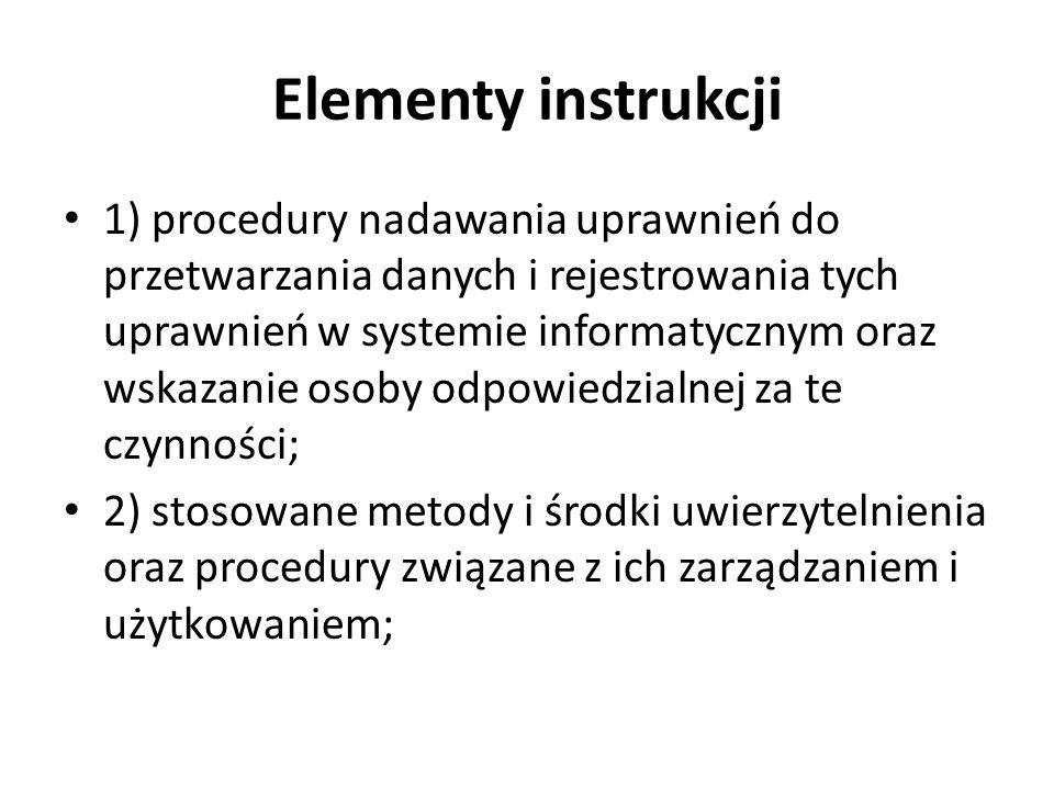 Elementy instrukcji