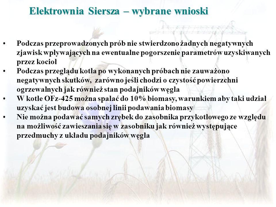 Elektrownia Siersza – wybrane wnioski