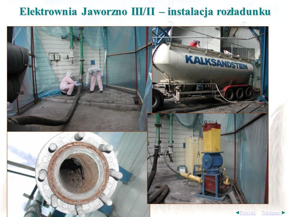 Elektrownia Jaworzno III/II – instalacja rozładunku