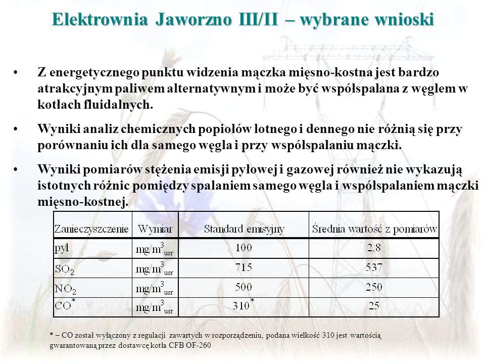 Elektrownia Jaworzno III/II – wybrane wnioski