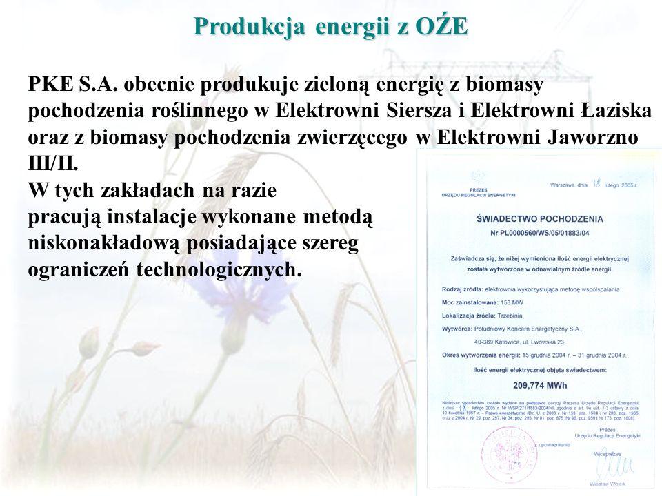 Produkcja energii z OŹE