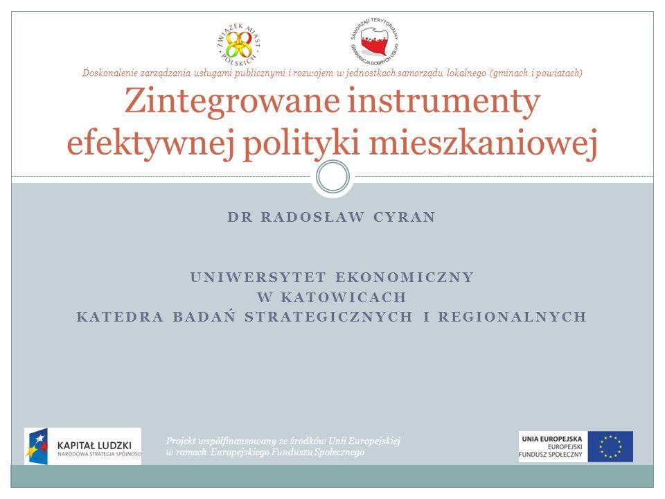 Uniwersytet ekonomiczny Katedra badań strategicznych i regionalnych