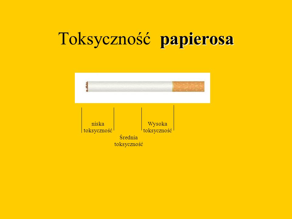 Toksyczność papierosa