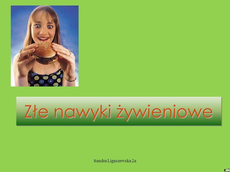 Złe nawyki żywieniowe Sandra Ligaszewska 2a