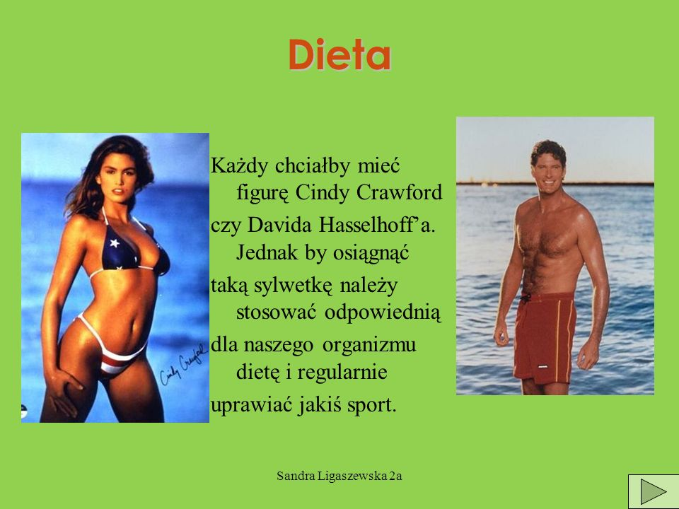 Dieta Każdy chciałby mieć figurę Cindy Crawford