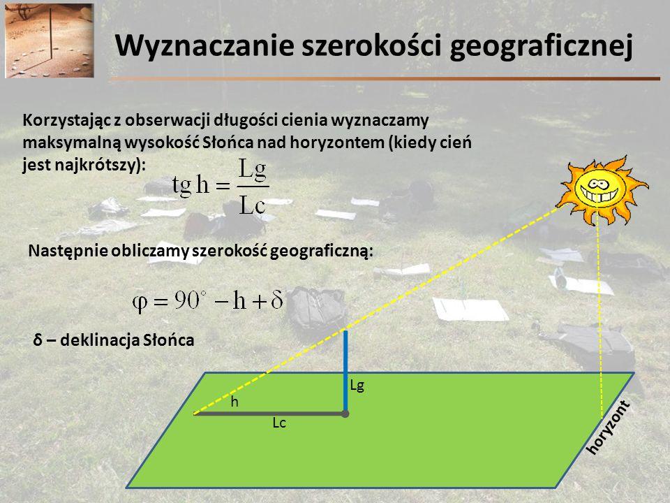 Wyznaczanie szerokości geograficznej
