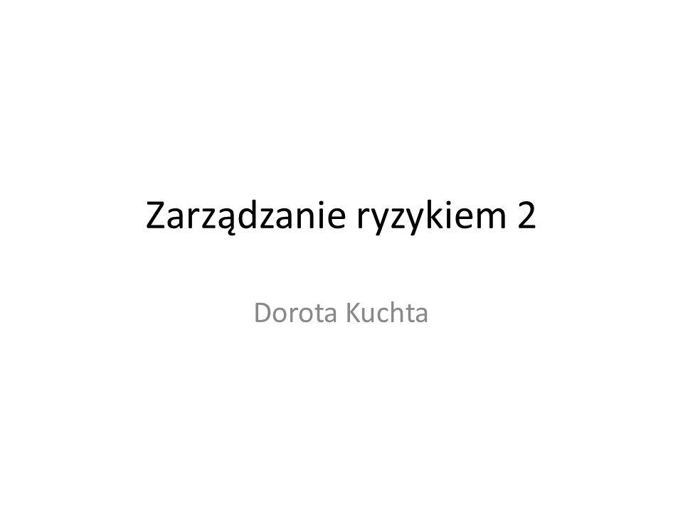 Zarządzanie ryzykiem 2 Dorota Kuchta