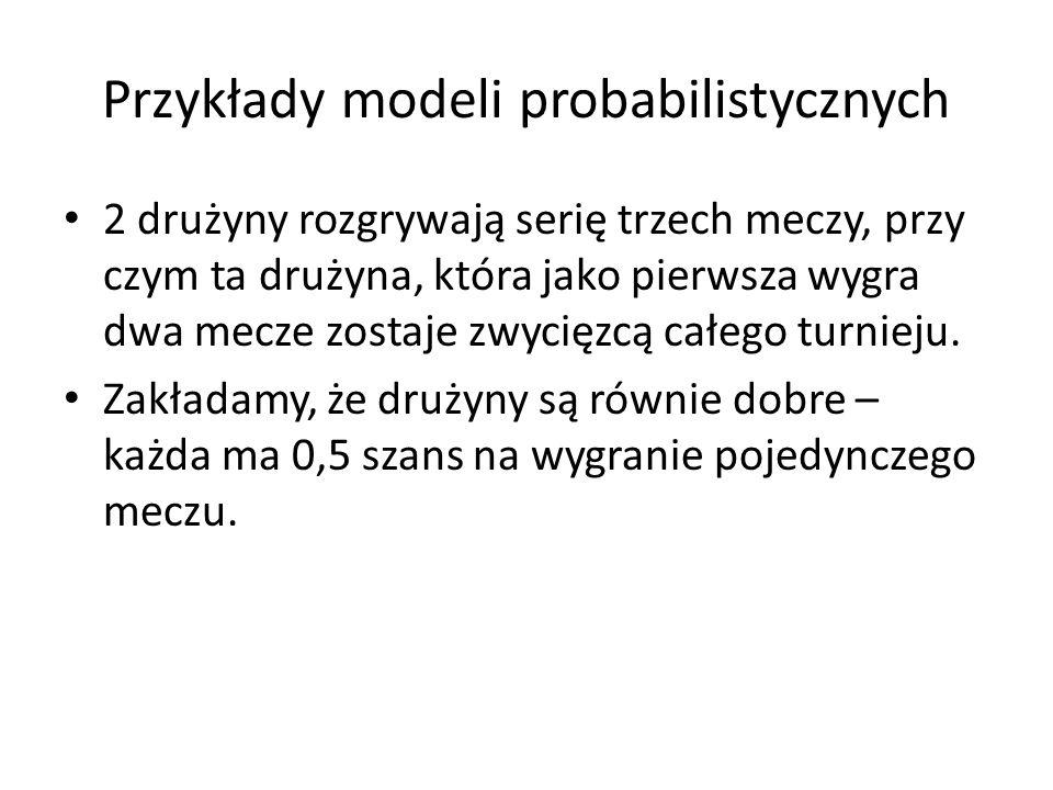Przykłady modeli probabilistycznych