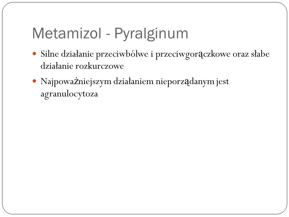 Metamizol - Pyralginum