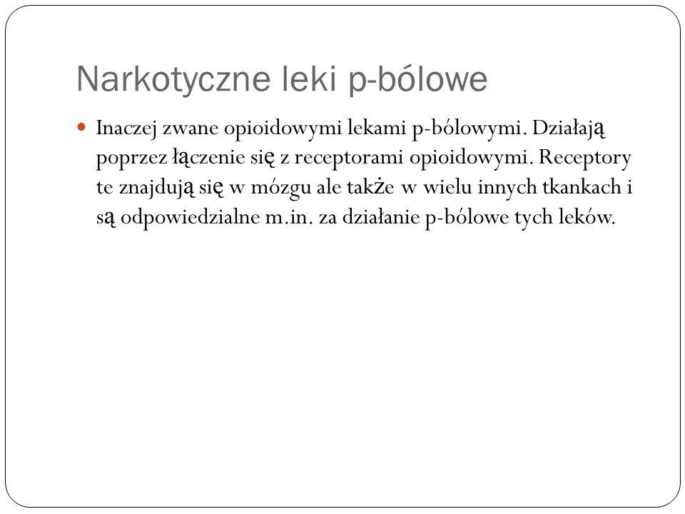 Narkotyczne leki p-bólowe