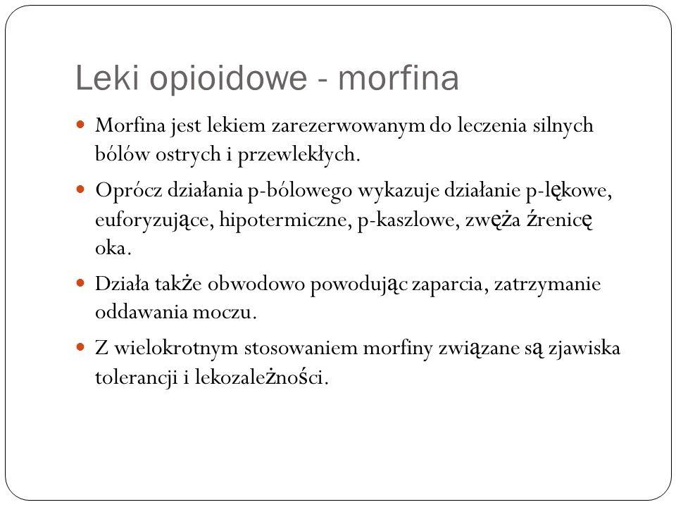 Leki opioidowe - morfina