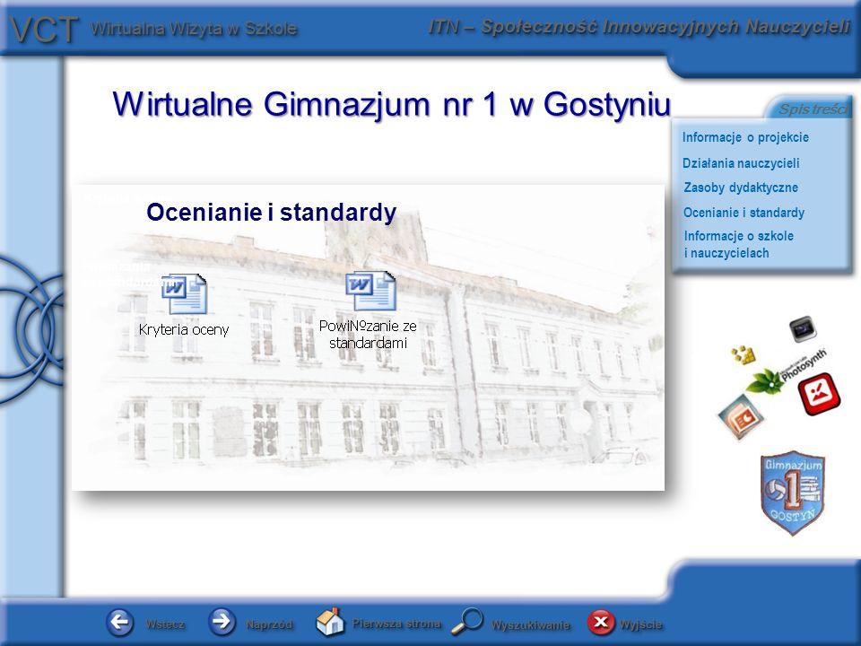 Ocenianie i standardy Kryteria oceny Powiązania ze standardami