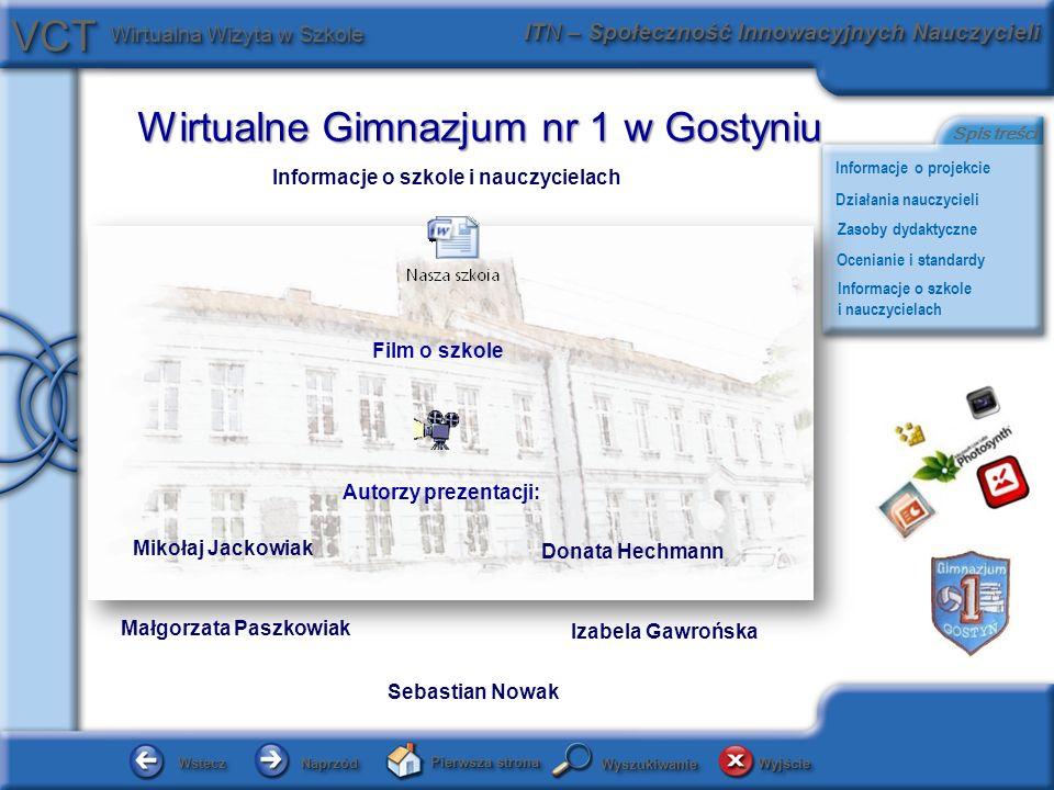 Informacje o szkole i nauczycielach