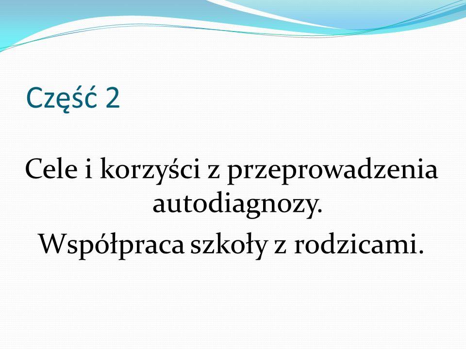 Część 2 Cele i korzyści z przeprowadzenia autodiagnozy.