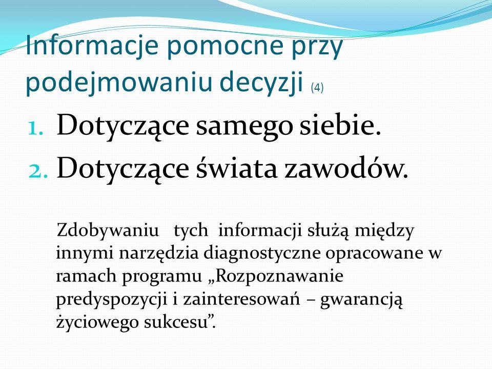 Informacje pomocne przy podejmowaniu decyzji (4)