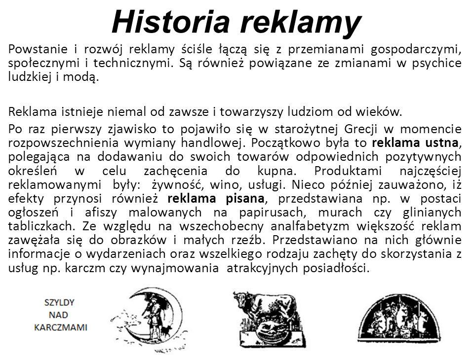 Historia reklamy