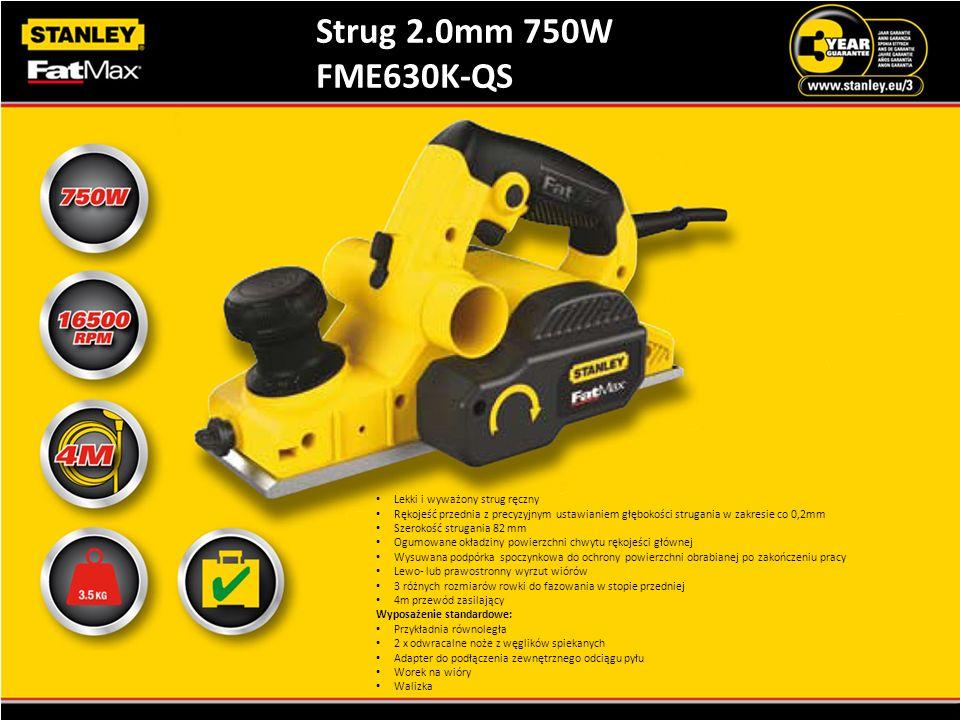 Strug 2.0mm 750W FME630K-QS Lekki i wyważony strug ręczny