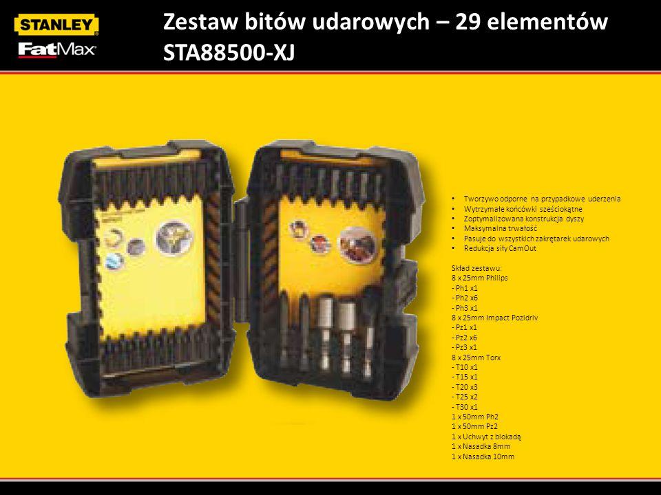 Zestaw bitów udarowych – 29 elementów STA88500-XJ