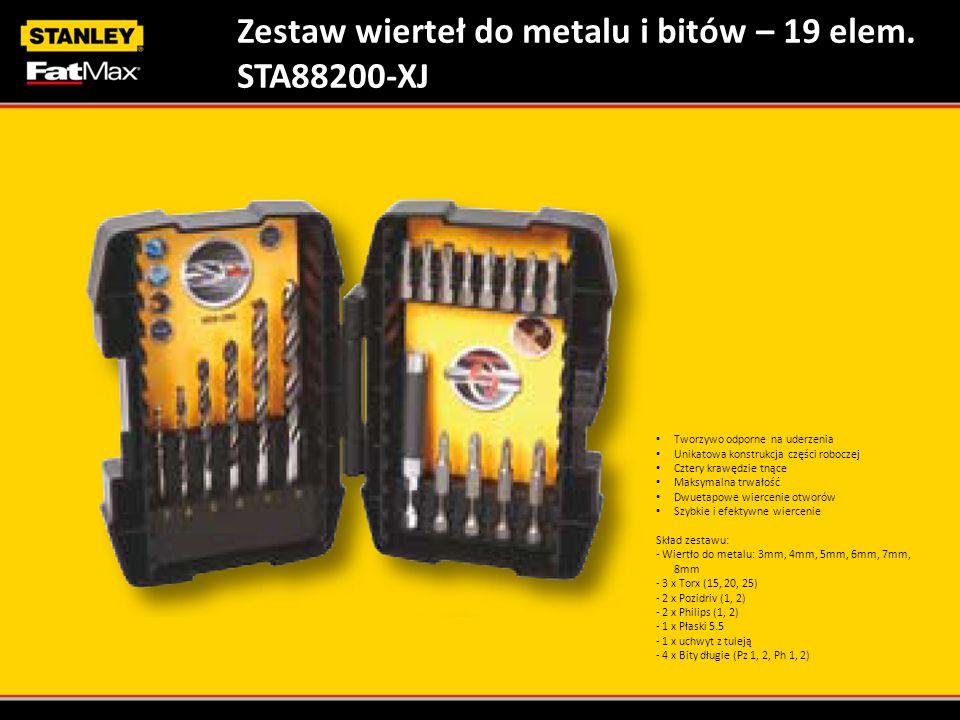 Zestaw wierteł do metalu i bitów – 19 elem. STA88200-XJ