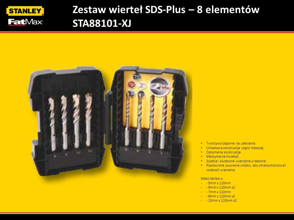Zestaw wierteł SDS-Plus – 8 elementów STA88101-XJ
