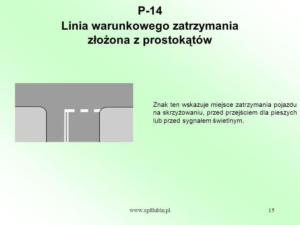 Linia warunkowego zatrzymania złożona z prostokątów
