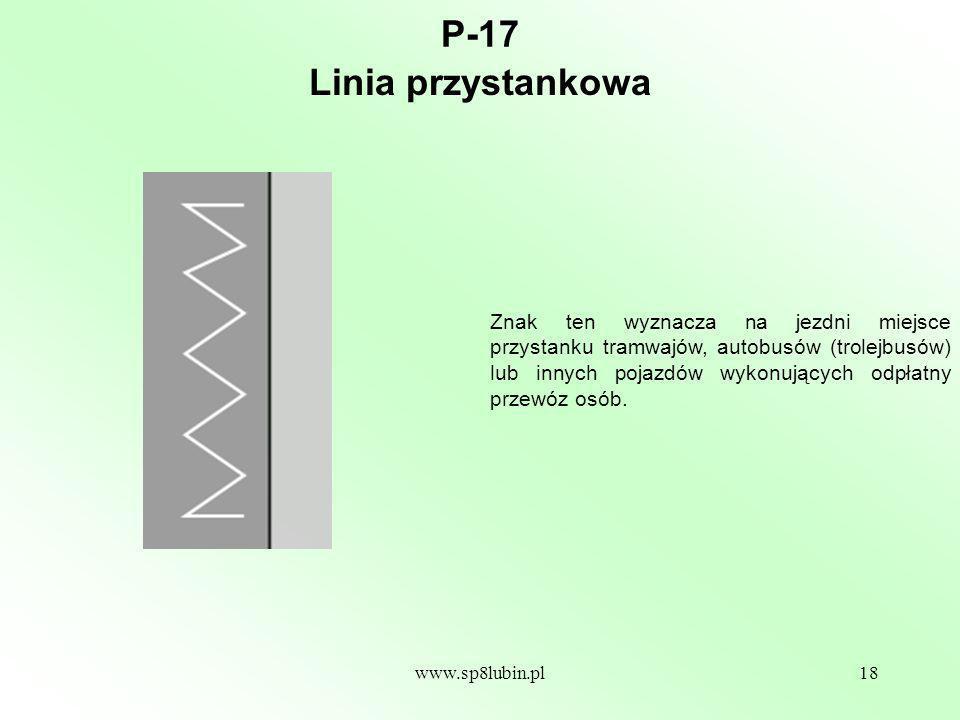 P-17 Linia przystankowa.