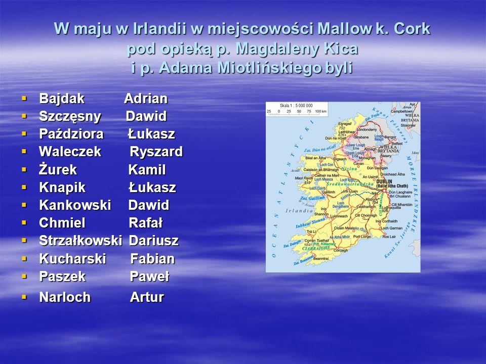 W maju w Irlandii w miejscowości Mallow k. Cork pod opieką p