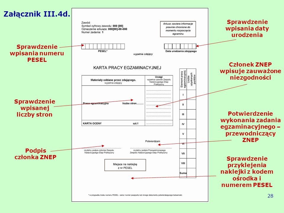 Załącznik III.4d. Sprawdzenie wpisania daty urodzenia