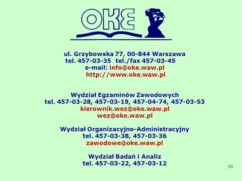 ul. Grzybowska 77, 00-844 Warszawa tel. 457-03-35 tel./fax 457-03-45