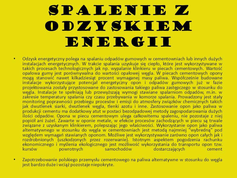 SPALENIE Z ODZYSKIEM ENERGII