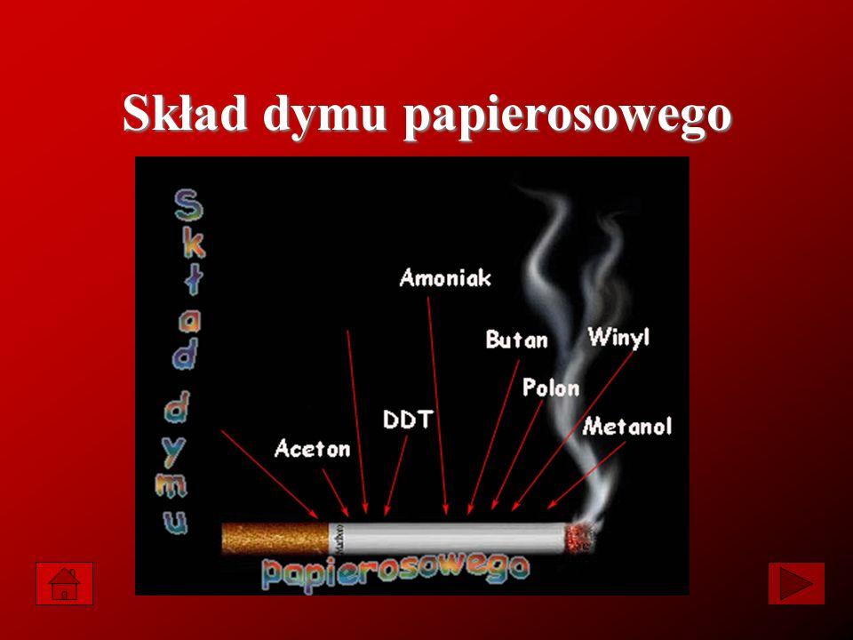 Skład dymu papierosowego