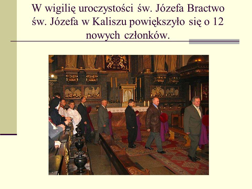 W wigilię uroczystości św. Józefa Bractwo św