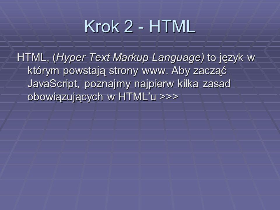 Krok 2 - HTML
