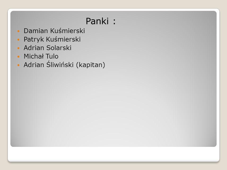 Panki : Damian Kuśmierski Patryk Kuśmierski Adrian Solarski