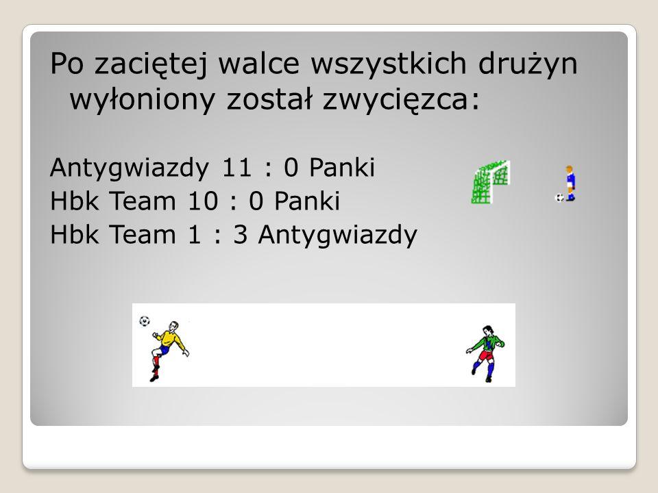 Po zaciętej walce wszystkich drużyn wyłoniony został zwycięzca: